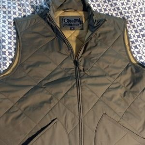 Small J.Crew Factory outerwear vest in green.